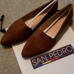 Brown Flats from San Pedro Shoes